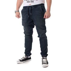Reell-Reflex-Calzoncillos-Pantalones-De-Hombre-azul-profundo-Vaqueros-Joggjeans