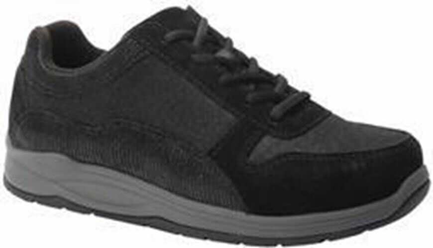 Drew Women's Tuscany Comfort Shoes Black Suede Mesh