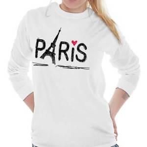 dbf96576c Paris Eiffel Tower French Shirt   France Gift Idea Cute Cool Long ...