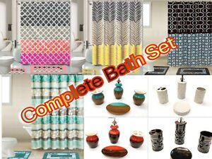 19 Piece Complete Bathroom Set Rugs