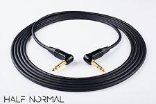 "3' Mogami 2549 Standard Balanced Neutrik Gold 1/4"" 90 TRS to 1/4"" 90 TRS Black"