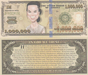 Superman Million Dollar Funny Money Gospel Tract Novelty Note # 3 FREE SLEEVE