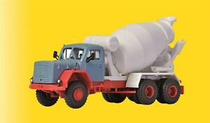 Viessmann-1136-Gauge-H0-Magirus-Eckhauber-With-Rotating-Mixing-Truck-New-Boxed