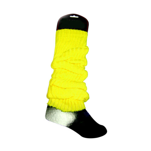 Pink Orange Yellow Green Club 80/'s Lauper Neon Leg Warmers Choose Your Color
