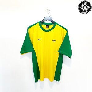 1998/00 RONALDO Brazil Word Cup 98 Nike Home Football Tee Shirt (M) Inter R9