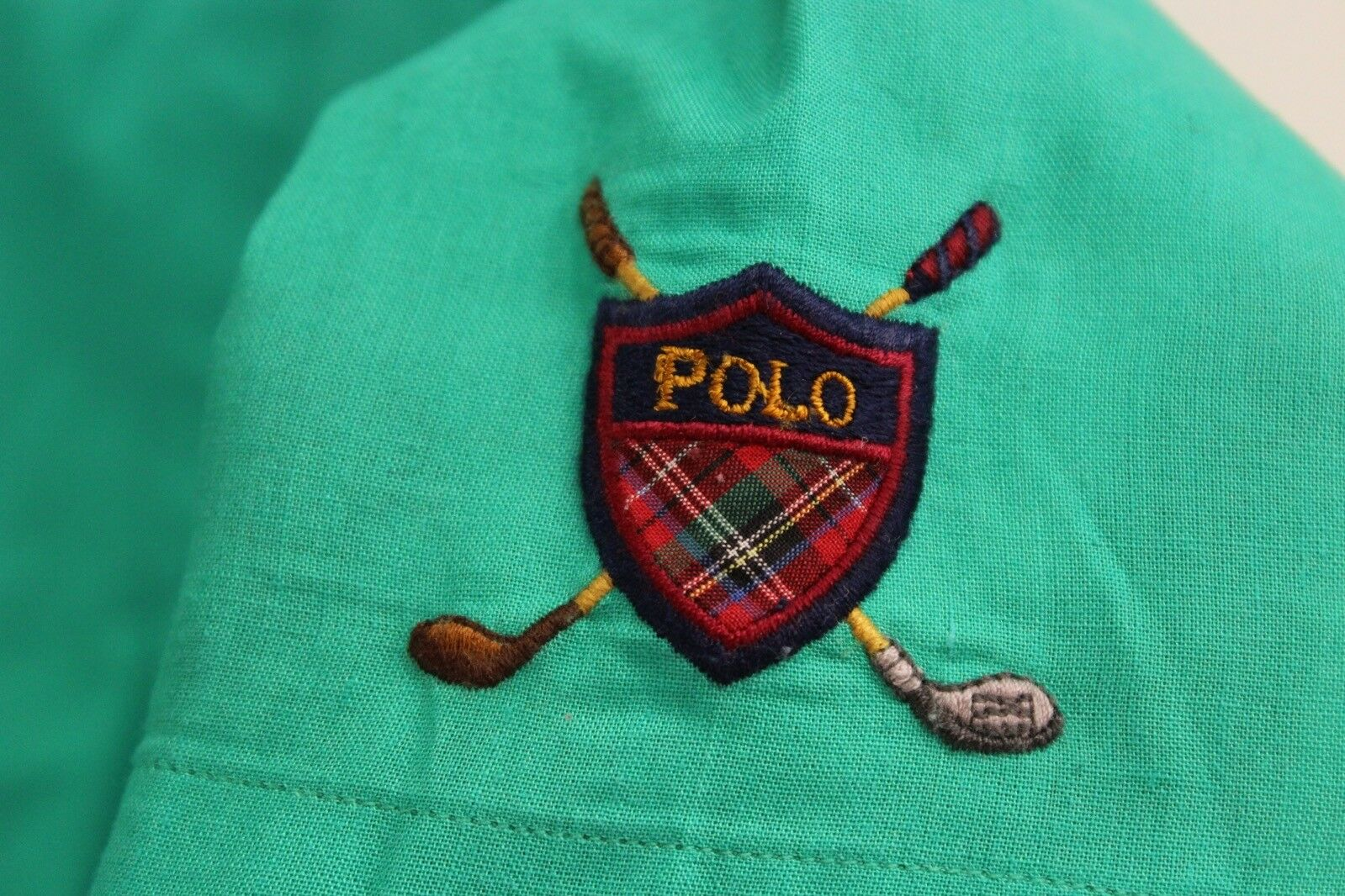 VTG 80's 90's Polo Ralph Lauren Happy Green Butto… - image 3