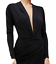 JOHN ZACK PLUNGE  V FRONT WRAP OVER   BLACK  MAXI DRESS