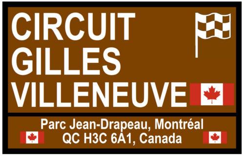 MOTOR SPORT TOURIST SIGNS - SOUVENIR NOVELTY FRIDGE MAGNET GIFT CANADA