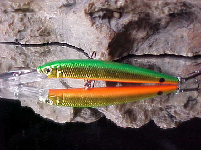 "Strike Pro 3 1//2/"" ALPHA Diver Deep Minnow JL-061F#621 LIME TIGER for Walleye"