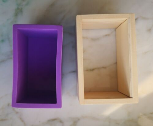 Wooden Soap Mold Silicone Liner Cake Bar Loaf Candle Food DIY Craft Tools