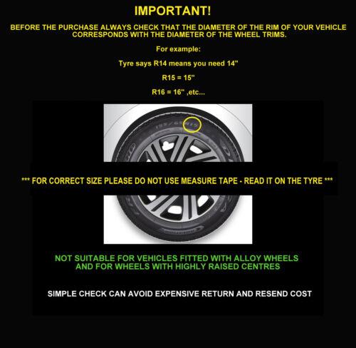 14/'/' Wheel trims hub caps for Nissan Micra 4x14/'/' silver