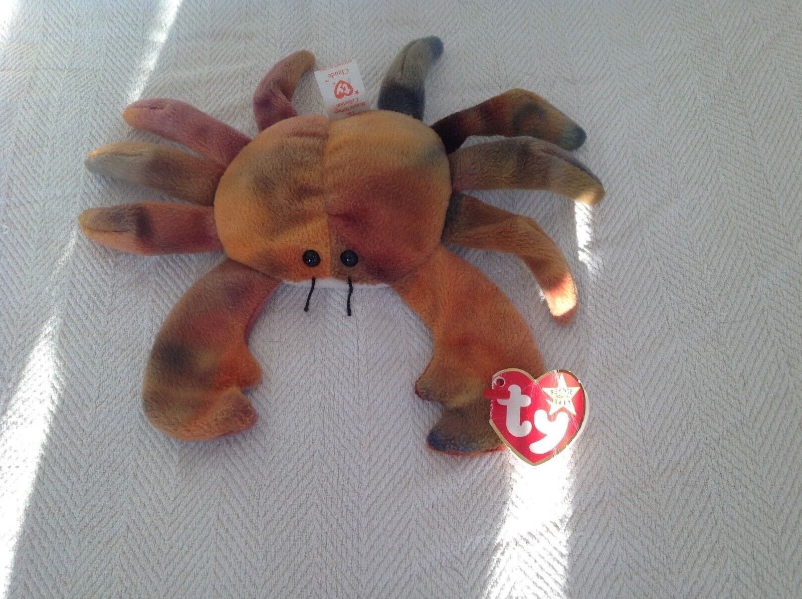 Claude the Crab Beanie Babies DOB September 3 1996 Retired rare