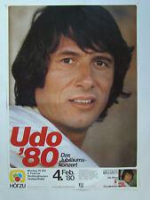 Udo Jürgens - Udo ´80 Tour - Original Konzertplakat DIN A1 (gerollt)