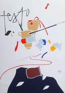 Emilio Tadini - Serigrafia Originale Certificata - completa di cartella