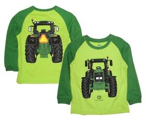 NEW John Deere Green Tractor Coming Going T- Shirt Size 12M 18M 24M 2T 3T 4T