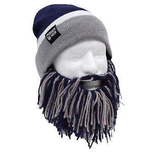 ae2d4a4d94c closeout image is loading dallas cowboys navy blue grey knit football beard  e2226 1b7f2