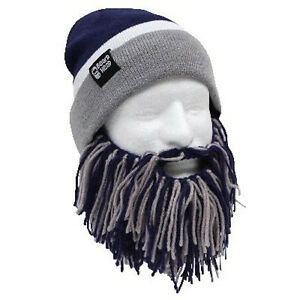 Details about Dallas Cowboys Navy Blue Grey Knit Football Beard Ski Face  Mask   Winter Hat + f855f21002e