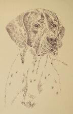 Pointer English Dog Art Print #40 Kline adds dogs name free Word Drawing gift