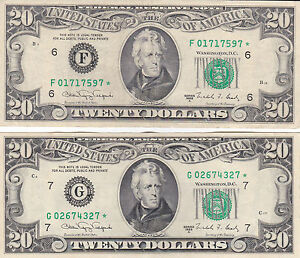 Image Is Loading 1988 A Star Old Style 20 Dollar Bill