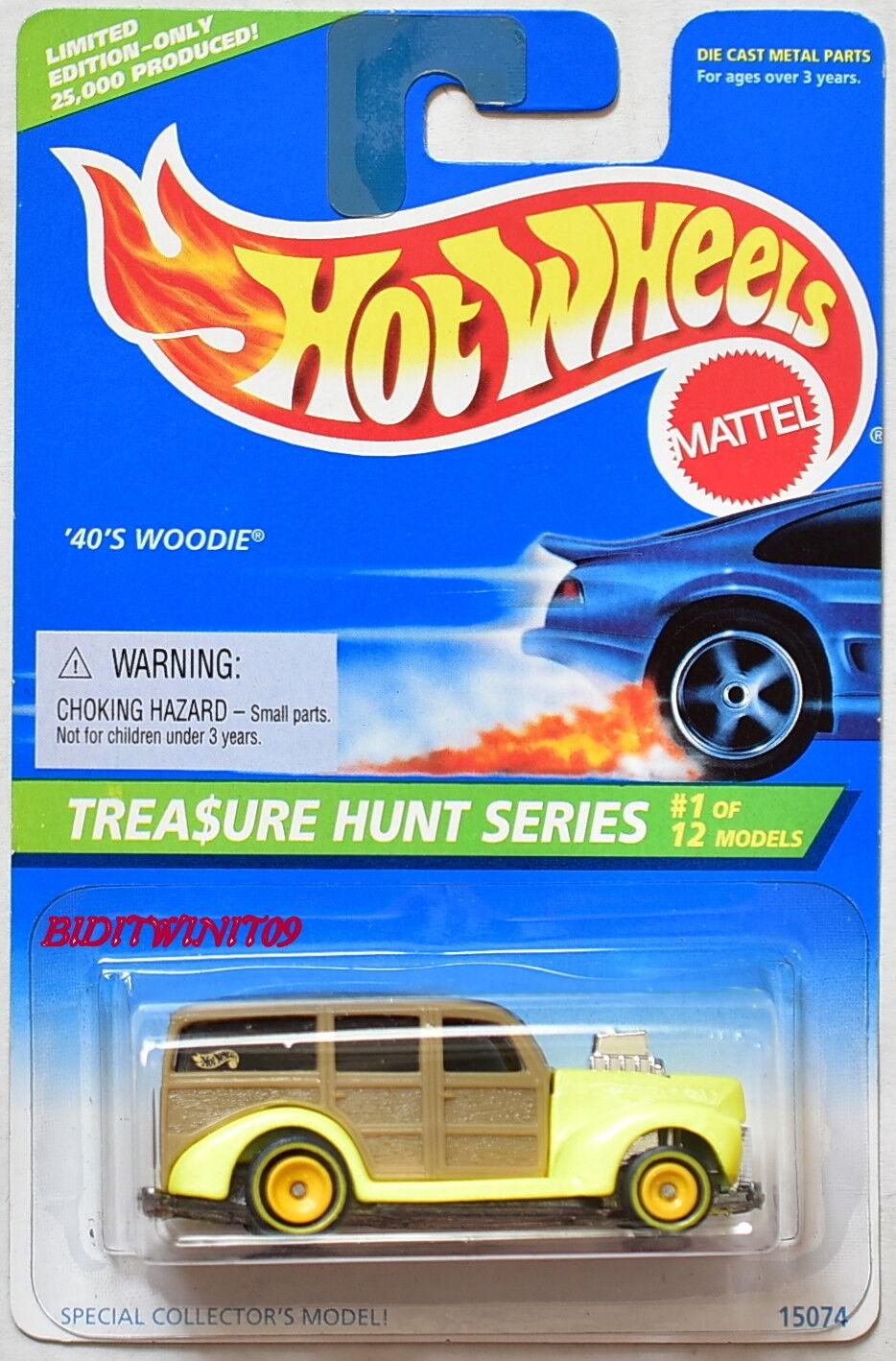 HOT WHEELS 1996 TREASURE HUNT SERIES  12 40's WOODIE