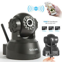 Sricam Wireless IP Camera WiFi IR LED 2-Way Audio Pan/Tilt Webcam Night Vision