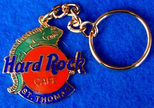 San-Thomas-Verde-Iguana-Lagarto-Clasico-Naranja-Logo-Llavero-Ring-Hard-Rock-Cafe