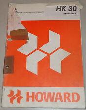 Betriebsanleitung und Teilekatalog Howard Harrovator HK30