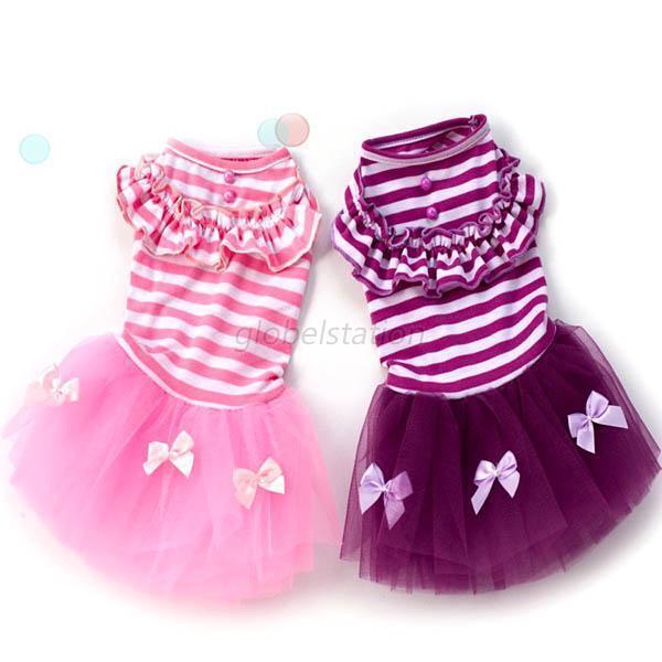 Cute Puppy Pet Dog Tutu Dress Lace Skirt Cat Princess Dress Small Dog Clothing