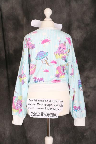 T-504 blau blue Lolita Pullover Sweatshirt Bär Bear Süß Harajuku Japan Fashion