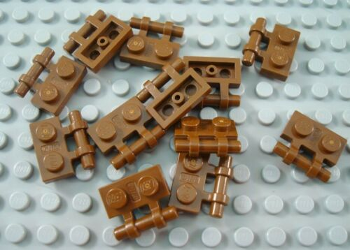 LEGO Lot of 12 Brown 1x2 Plates with Handle