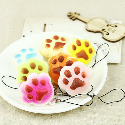 Funny Kawaii Jumbo Squishy Slow Rising Fruits Animals Phone Straps Stress Toys