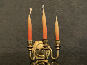 Dollhouse Miniature Brass Candle Snuffer by Clare-Bell Brass