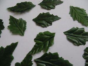 100-Small-Verde-Seta-Foglie-di-quercia-Artigianato-Decorazione-Nozze-autunno-Natale