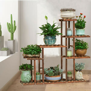 Heavy-Duty-Plant-Flower-Display-Stand-Wood-Shelf-Storage-Rack-Outdoor-Pot-Holder
