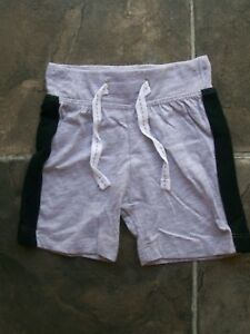 BNWT-Baby-Boy-039-s-Grey-amp-Black-Cotton-Knit-Shorts-Sizes-000-00-amp-0