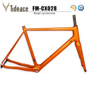 Thru-Axle-Full-Carbon-Fiber-Bike-Frames-142-12mm-BSA-Carbon-Cyclocross-Frameset