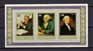 16351) Cook Isl. MNH New 1982 US Presidents S/S