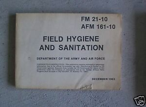 1983 us army manual field hygiene and sanitation look ebay rh ebay com army field sanitation center manual army field hygiene and sanitation manual