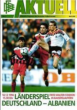 EM-Qualifikation 18.12.1994 Deutschland - Albanien in Kaiserslautern