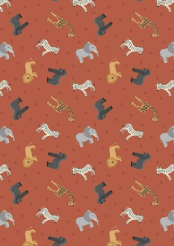 Lewis /& Irene 100/% Cotton Fabric Fat Quarter//Metre Small Things World Animals