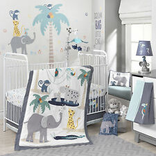 Lambs & Ivy Animal Crackers 6 Piece Baby Crib Bedding Set with Bumper & Mobile