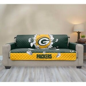 Phenomenal Details About Green Bay Packers Nfl Explosion Sofa Couch Cover Furniture Protector Stain Spill Gmtry Best Dining Table And Chair Ideas Images Gmtryco