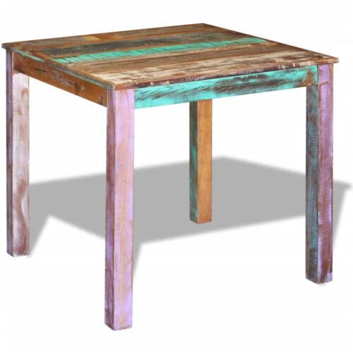 Esstisch Recyceltes 80x82x76 cm Baumkante Tisch Küchentisch Massivholztisch