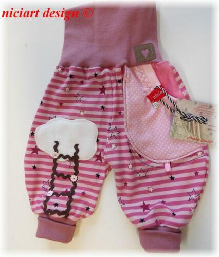 Niciart ♥ Designer Jersey Pump pantalones ♥ 50 hasta 134 ♥ pantalones rosa ♥ rosa malva Jersey pantalones