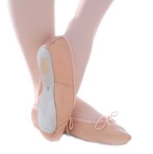 3631c268e6 Dance Depot classic leather ballet shoe girls boys pink or black | eBay