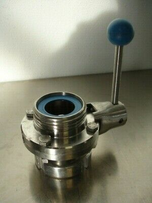 Scheibenventil Edelstahl 1.4404 DIN 11852 versch.Größen butterfly valve 316L