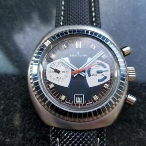 Mens Breitling Datora 1960s 42mm Manual Chronograph with Date Vintage LV456BLK