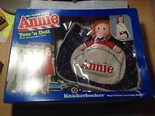 VINTAGE 1982 BY KNICKERBOCKER - ANNIE TOTE'N DOLL W/ REMOVABLE DOLL  <<NIB