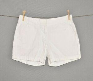 J-CREW-55-White-Casual-Cotton-Chino-Shorts-Size-2