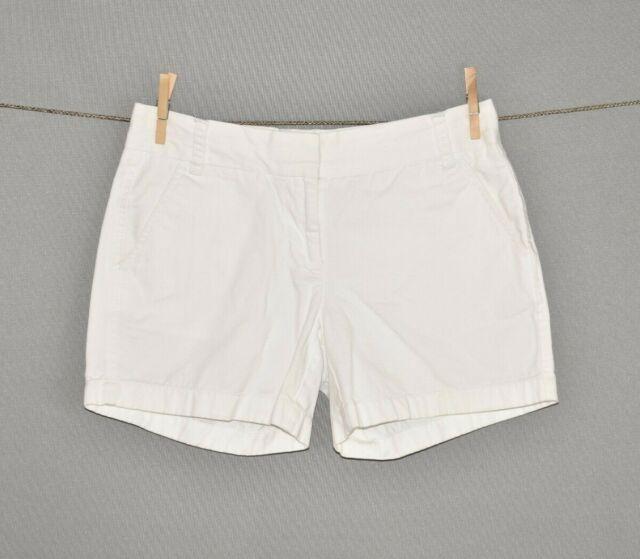 J.CREW $55 White Casual Cotton Chino Shorts Size 2